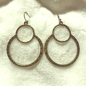 Antique style gold plated earrings
